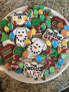 Christmas Baby Shower Decorated Cookies