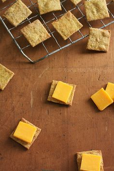 Homemade Wheat Thin Crackers by Xiaolu // 6 Bittersweets--- because wheat thins are incredible :) The similarity is uncanny