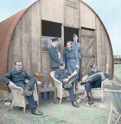 Aircrew while away the hours at RAF Kirton in Lindsay, Lincolnshire. 18th June 1941