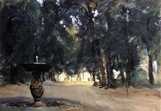 Villa Torlonia Fountain 1907. Джон Сингер Сарджент