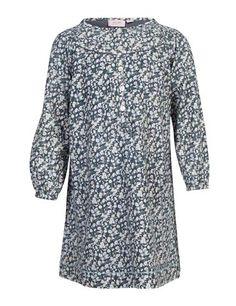 Kjole med knaplukning og krave - Mørkegrå