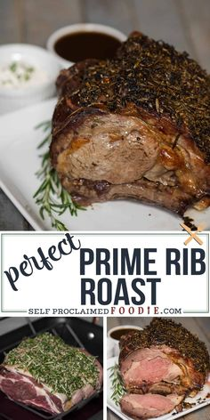 This holiday season, serve your friends and family a Perfect Prime Rib Roast for dinner. Its an elegant yet easy to make main dish. recipes for dinner main dishes Perfect Prime Rib Roast Recipe & Cooking Tips Beef Rib Roast, Roast Beef Recipes, Rib Recipes, Cooking Recipes, Cooking Tips, Prime Rib Oven Roast, Best Roast Beef, Cooking Food, Prime Rib Marinade