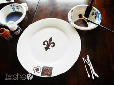 Love this decorative plate transformation! So simple too!