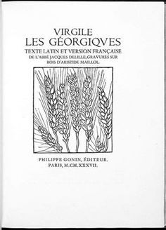 Les géorgiques (bk by Virgil in 2 volumes w/works, folio) by Aristide Maillol