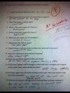 A+ for creativity