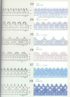 50 Patrones de Puntillas Crochet / Descarga Gratis | Todo crochet