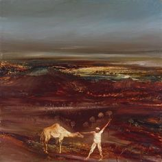 Sir Sidney Nolan 'Camel and Figure', 1966 © The estate of Sir Sidney Nolan. All Rights Reserved 2010 / Bridgeman Art Library Australian Painting, Australian Artists, Sidney Nolan, Victoria Art, Framed Canvas Prints, Dutch Artists, Art Database, Landscape Paintings, Landscapes