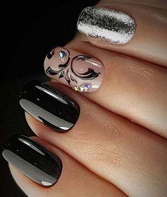Super Fabulous and Black Prom Nail Art Designs
