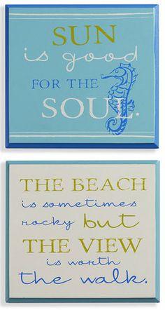 Seaside Wall Sign Set