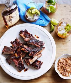 Sticky pork ribs with rapadura salt