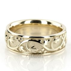 Floral Antique Handmade Wedding Ring, the pin said, but David Virtue of Portsmouth, New Hampshire, makes them just like this.