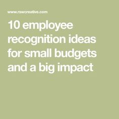 Leaders understand that recognition impacts engagement, productivity and retention, here are 10 budget-friendly ideas for making employees feel appreciated. Employee Rewards, Incentives For Employees, Employee Morale, Employee Appreciation Gifts, Employee Gifts, Staff Morale, Employee Incentive Ideas, Gifts For Employees, Volunteer Appreciation