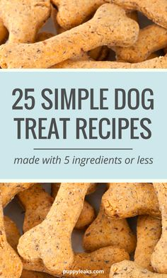 Homemade Dog Food 25 homemade dog treat recipes - Want to make some homemade dog treats? Here's 25 simple dog treat recipes, all made with 5 ingredients or less. From grain free treats to frozen options, Homemade Dog Cookies, Homemade Dog Food, Homemade Dog Biscuits, Frozen Biscuits, Homemade Breads, Diy Dog Treats, Healthy Dog Treats, Soft Dog Treats, Pumpkin Dog Treats