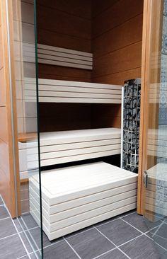 Visit the website just press the link for even more details --- home sauna Traditional Saunas, Sauna Design, Finnish Sauna, Spa Rooms, Caravan Renovation, Bathroom Spa, Pool Water, Pool Houses, Shower Tub