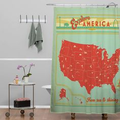 DENY Designs Anderson Design Group Explore America Shower Curtain & Reviews | Wayfair