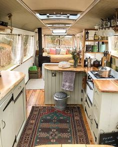 Inspired image of short bus conversion furnishing ideas for cozy living - furnishing ideas and furnishing ideas - moercar 19 Simple short bus conversion 25 Simple Short Bus Conversion Inspiration - Decorate Inspired image of Modern Tiny House, Tiny House Living, Tiny House Design, Small Living, Tout Est Possible, Narrowboat Interiors, Houseboat Living, Van Home, Bus House