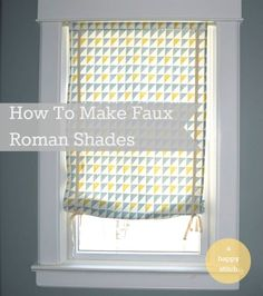 How to sew faux roman shades
