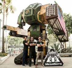 Nasa joins MegaBots to prep for US-Japan giant robot duel and you are invited to donate | MegaBots is now supported by NASA, IHMC Robotics, Howe & Howe Technologies and BattleBots. Your move, Japan. [MegaBots: http://futuristicnews.com/megabots-giant-fighting-robots/  Kuratas: http://futuristicnews.com/operate-the-13-foot-robotic-mecha-suit/]