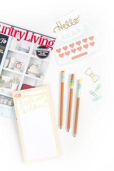 How To Add 3 DIY Embellishments To Plain Pencils | Dream Green DIY