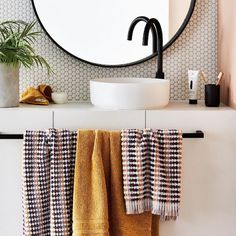 Update Your Bathroom to Help Sell Your Home | ABI Bathrooms & Interiors Black Round Mirror, Round Mirrors, Easy Bathroom Updates, Simple Bathroom, Bathroom Ideas, Home Republic, Turkish Cotton Towels, Ensuite Bathrooms, Bath Sheets