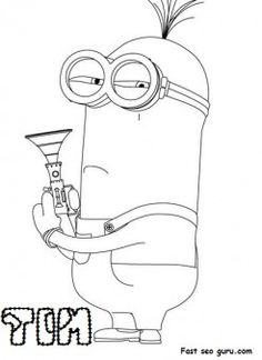 print out disney two eyed minion tim despicable me 2 coloring pages characters fargelegge tegninger activities