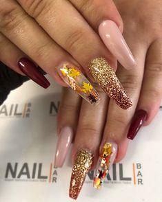 116 thanksgiving nails designs that will inspire you page 11 Thanksgiving Nail Designs, Thanksgiving Nails, Cute Acrylic Nail Designs, Fall Nail Art Designs, Aycrlic Nails, Hot Nails, Oval Nails, Fall Acrylic Nails, Fire Nails