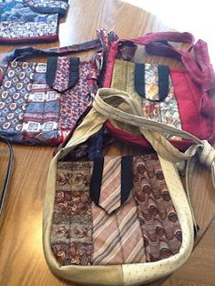 My mom makes these neck tie purses.  They are so awesome.  She has several made to purchase, or you can bring your own ties to have one made.  She makes 4 different sizes.