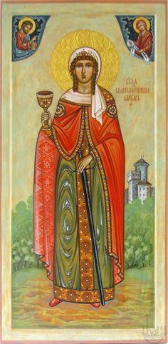 Святая великомученица Варвара. Создание мерной иконы очень кропотливый и длительный процесс. Иконописец тщательным образом изучает житие