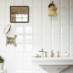 White Gloss Bevel - Boho Soho - Wall & Floor Tiles   Fired Earth