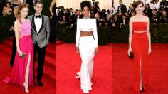 Met Gala 2014 - Short Top Dresses. The back of Rihanna's dress is even prettier.