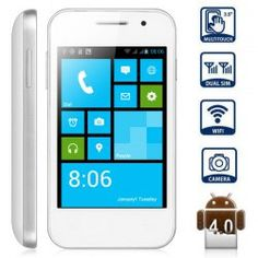 This phone will only work with GSM+WCDMA network Network type: GSMFrequency: GSM 850/900/1800/1900MHz Unlocked for Worldwide use, please check if your local area network is compatible with this phone  Main Features: Type: Touch screen phone  Color: White OS: Android 4.0 CPU: SP8810 1GHz  ...Click on Picture to go to Store