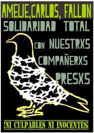 México: 5E. Dictada la sentencia a lxs compas Amelie, Fallon y Carlos en el proceso local.