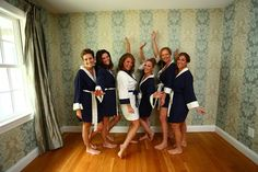 The ladies - my bridesmaids (minus Lizzy) in their robes.