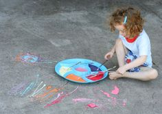 Scented Edible Sidewalk Chalk Paint | FUN AT HOME WITH KIDS