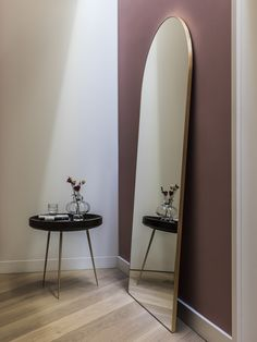 The Fine Edge Full-length Mirror by Heal's is part of the classic Fine Edge collection. Designed with simplicity and elegance in mind, the brushed metal edge frames a high quality mirror pane in delicate leaf. The curved silhouette at the top and full-len Full Length Mirror Hallway, Entrance Hall Decor, Hall Mirrors, Bedroom Decor, Interior Design, Brushed Metal, Home Decor, Inspiration, Reflection