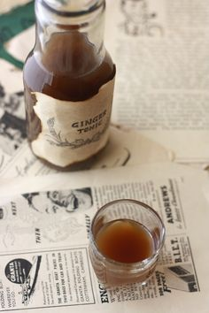 Ginger Tonic - a traditional, natural remedy for a cold or a stomachache