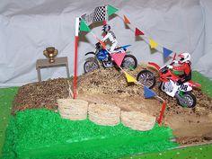 Dirtbike cake by kimmybritt, via Flickr