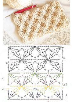 Интересные плотные узоры крючком и спицами со схемами