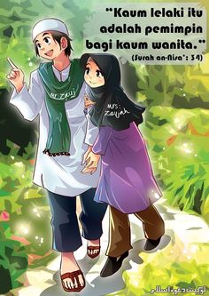 Facebook Anime Muslimah Islamic Cartoon Just Pray The Protector Quotes