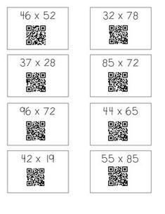 2-digit x 2-digit Multiplication Practice-Box Method (Area