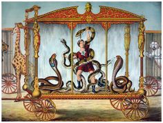 Decor Circus Poster. Fine Graphic Art. Serpents show. Home Wall Design. 1280 | eBay