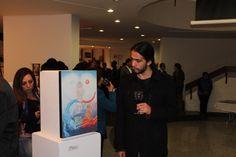 Artistas como Felipe Sánchez de la Universidad Santo Tomás nos mostraron su obra.