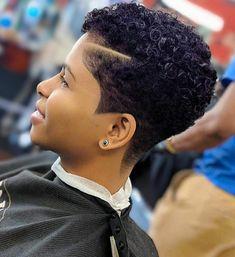 Natural Hair Haircuts, Natural Hair Short Cuts, Tapered Natural Hair, Short Sassy Hair, Short Hair Cuts, Natural Hair Styles, Short Hair Syles, Curly Hair Styles, Short Shaved Hairstyles