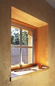 Home Plan Details : Natural Habitat - straw bale house provides deep window recesses