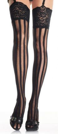 4575403c8 Black Sheer and opaque Vertical striped tights. Striped TightsStriped  StockingsNylon StockingsRocky Horror CostumesSteampunk ClothingVertical ...