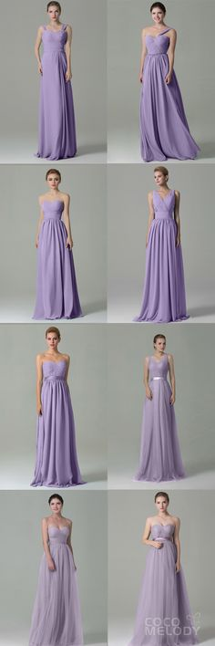 Pastel Lilac Chiffon And Tulle Bridesmaid Dresses, Under $99,All Size Are Available. #wedding #bridesmaids #customdresses #cocomelody #bridesmaiddresses #pastelbridesmaiddresses #lilacbridesmaiddresses