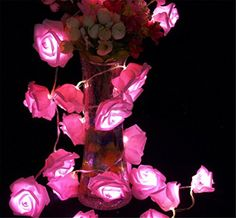 Ramonala 22M 20er LED String Lights Flower Rose Dcor Rope Lights for Outdoor Christmas Seasonal Decoration Wedding Party Holiday -- Click image to review more details.