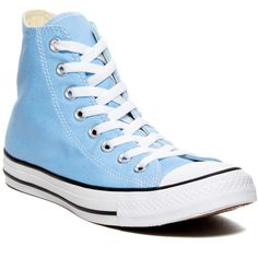 Converse CT High Top Sneaker (Unisex) ($33) ❤ liked on Polyvore featuring shoes, sneakers, converse, blue sky, lace up high top sneakers, lacing sneakers, converse sneakers, lace up sneakers and blue shoes