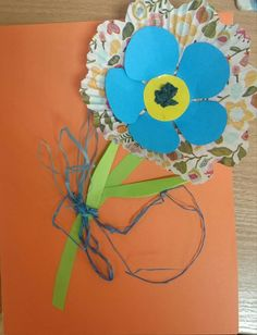 Kwiatek laurka dla mamy flower for Mom art activities for kids niezapominajka