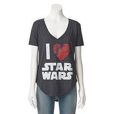 Juniors' Star Wars ''I Heart Star Wars'' High-Low T-Shirt